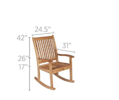 Swell Royal Teak Collection Highback Outdoor Rocking Chair Ships Free In 1 To 3 Business Days Download Free Architecture Designs Xerocsunscenecom