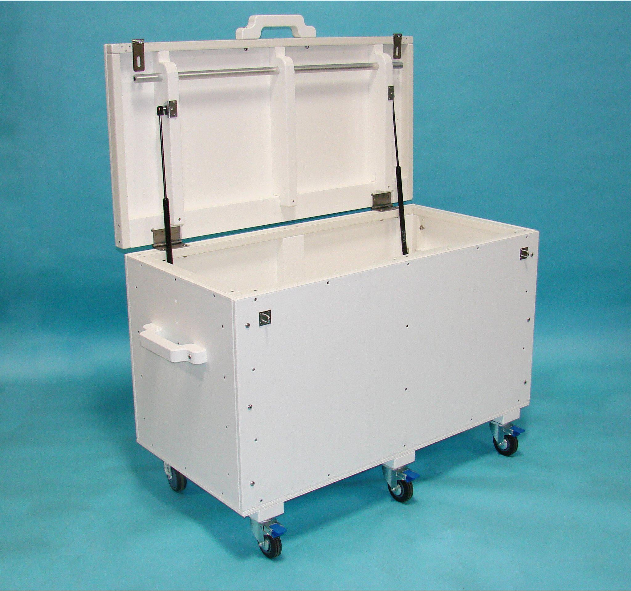 Recycled plastic storage boxes - Tailwind Furniture Recycled Plastic Storage Box 4ft St24 4 Tailwind White
