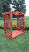 A & L Furniture Co. Western Red Cedar 6' Jamesport Arbor & Deck - LEAD TIME TO SHIP 4 WEEKS