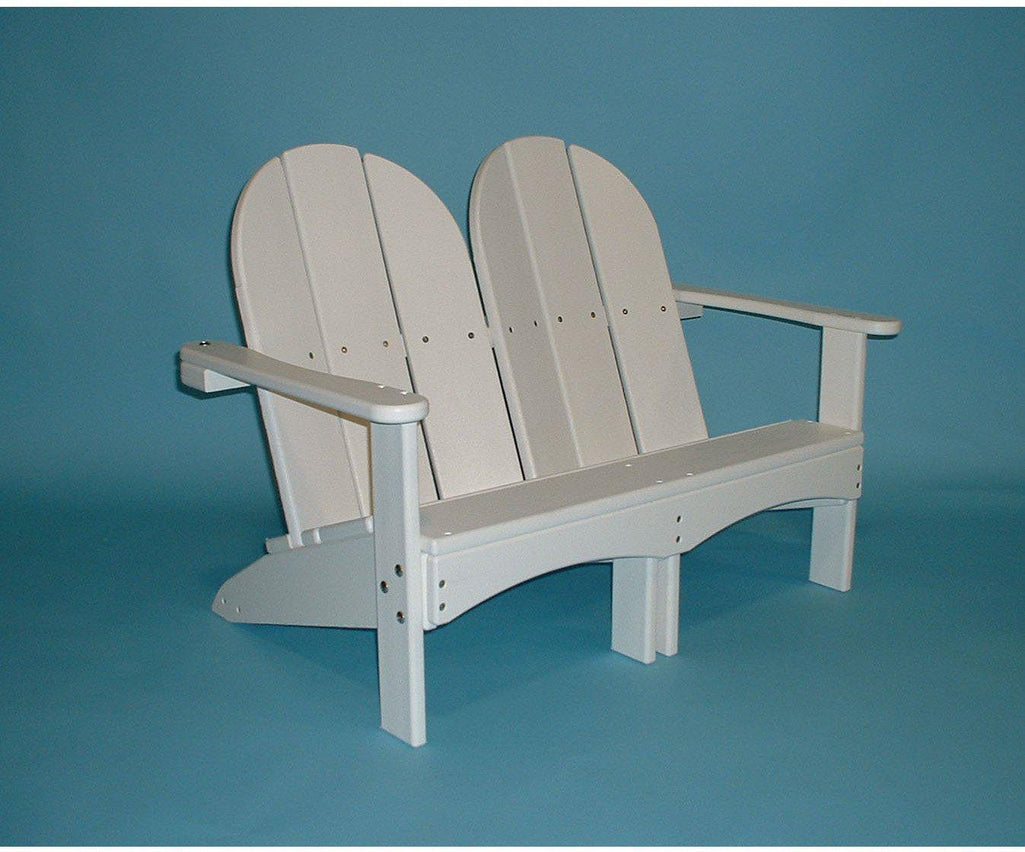 Tailwind Recycled Plastic Kids Double Adirondack Chair   Rocking Furniture