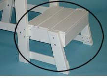 Tailwind Furniture Recycled Plastic Lifeguard Chair Platform Kit For LG 500    Tailwind White