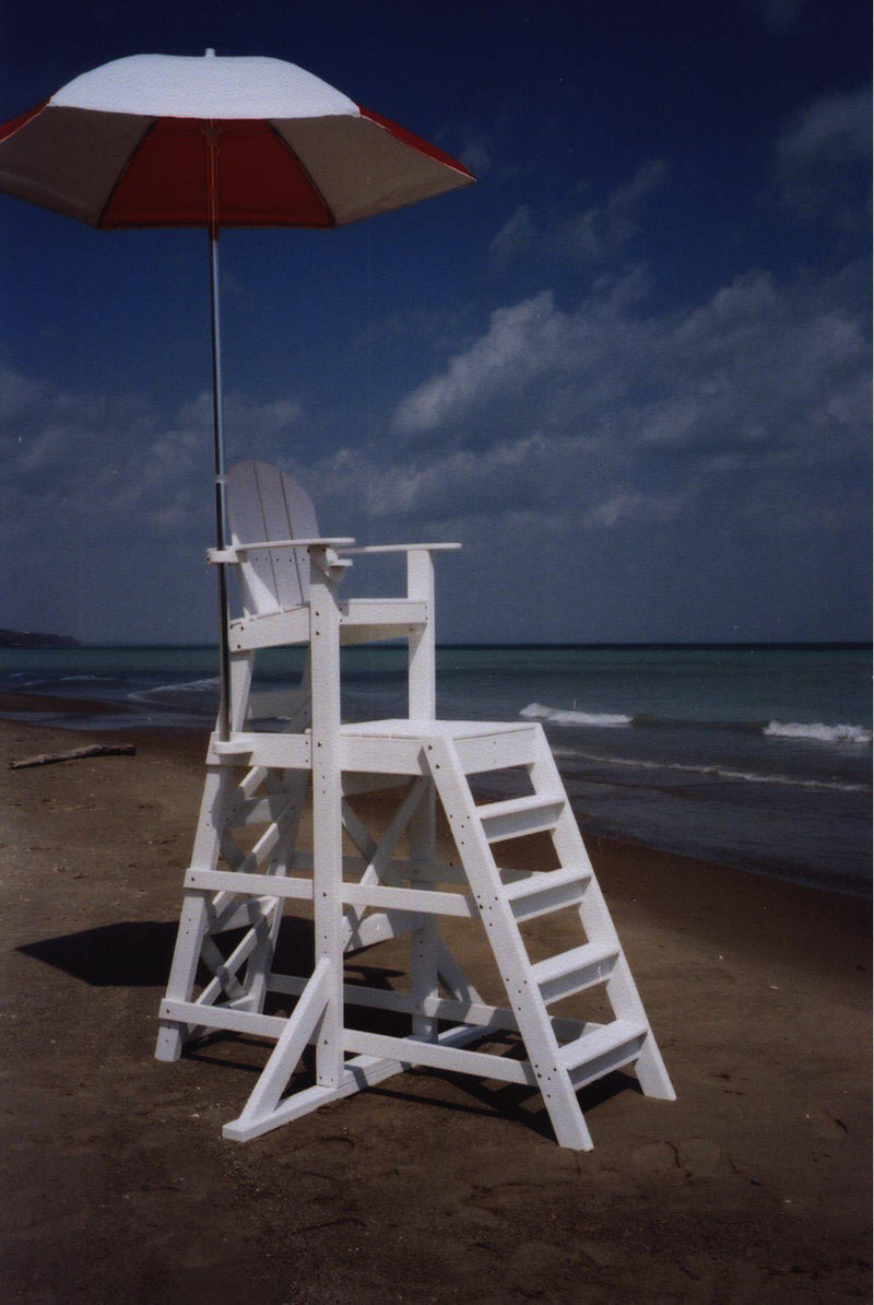 Tailwind Furniture Recycled Plastic TLG535 Tall Lifeguard Chair   With  Front Ladder   Rocking Furniture