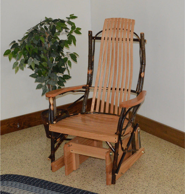 A Amp L Furniture Co Amish Bentwood Hickory Glider Rocker