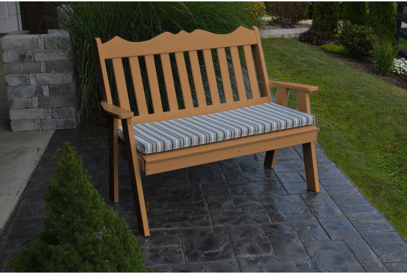 Delightful Outdoor Bench   Au0026L Furniture Company Recycled Plastic 5u0027 Royal English Garden  Bench