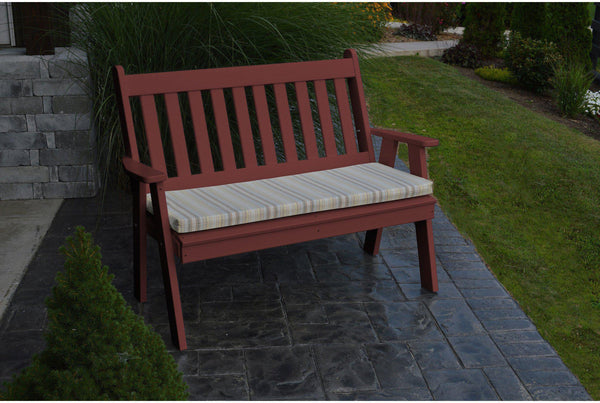 A l furniture co recycled plastic 5 39 traditional bench for Traditional garden furniture
