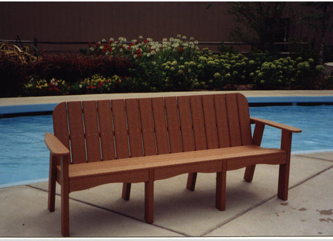 A Amp L Furniture Co Recycled Plastic 5 Traditional Bench