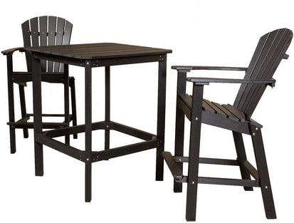 Outdoor Dining Set   Wildridge Recycled Plastic Classic High 38