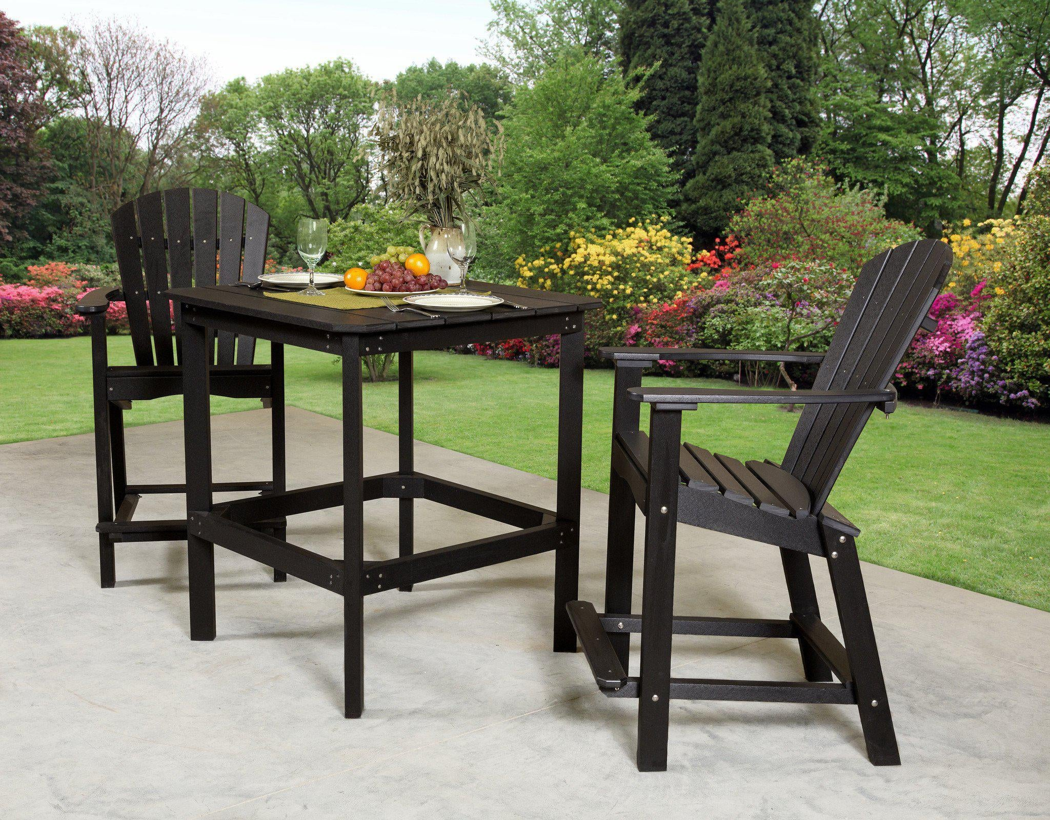 Outdoor Wildridge Poly Furniture Classic High Table Set Rocking