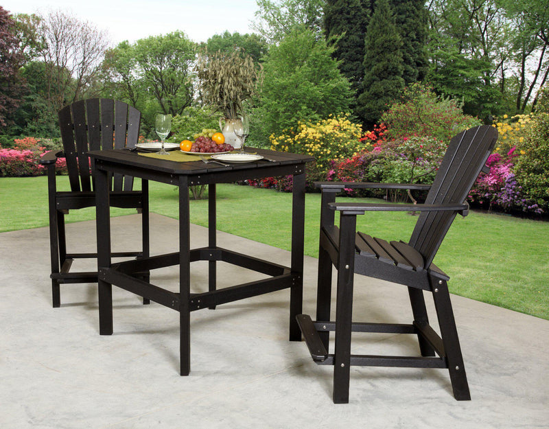 outdoor square dining table for 12 plans set recycled plastic classic high patio chairs