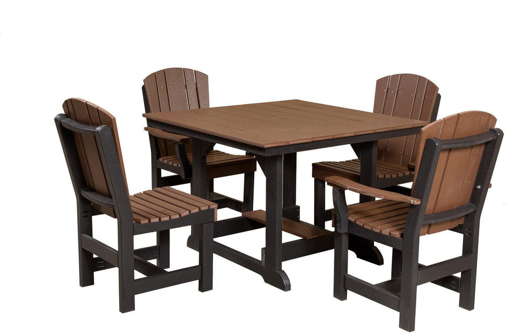 Wildridge Outdoor Heritage 44u201dx44u201d Dining Table With 4 Chairs   Rocking  Furniture