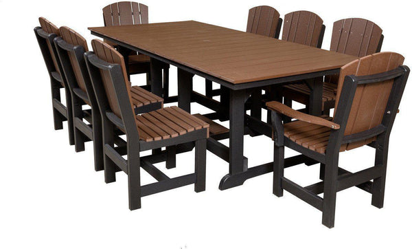 Outdoor Dining Set   Wildridge Recycled Plastic Heritage 44x94 Dining Table  With 8 Chairs