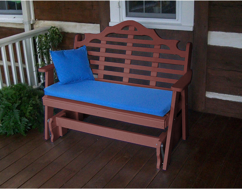 A Amp L Furniture Co Marlboro 4ft Recycled Plastic Glider