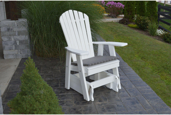 Outdoor Glider   Au0026L Furniture Company Recycled Plastic Adirondack Gliding  Chair