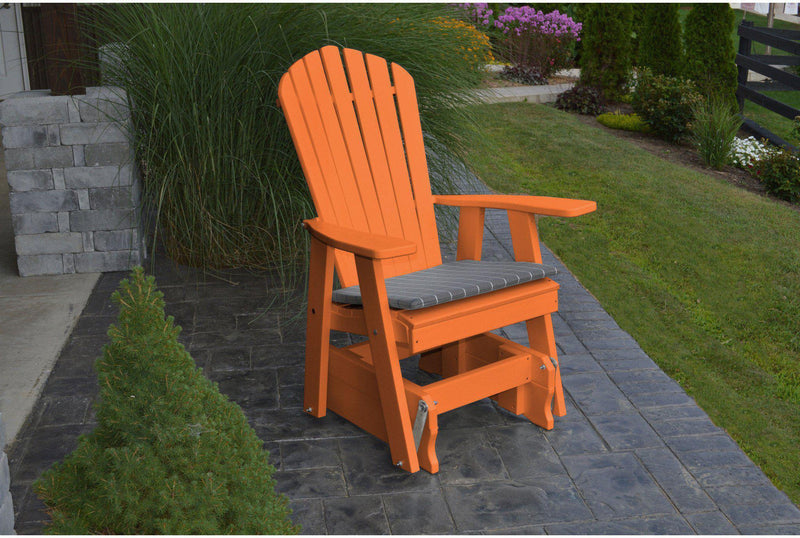 Outdoor Glider - A&L Furniture Company Recycled Plastic Adirondack Gliding  Chair - A&L Furniture Co. Poly Adirondack Glider Chair - Rocking Furniture