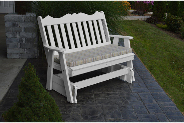 A Amp L Furniture Co Outdoor Royal English Poly 4 Glider