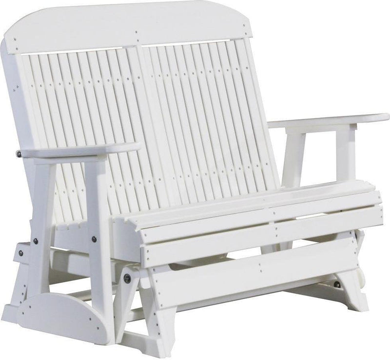 LuxCraft Classic Highback 4ft. Recycled Plastic Patio Glider   Rocking  Furniture