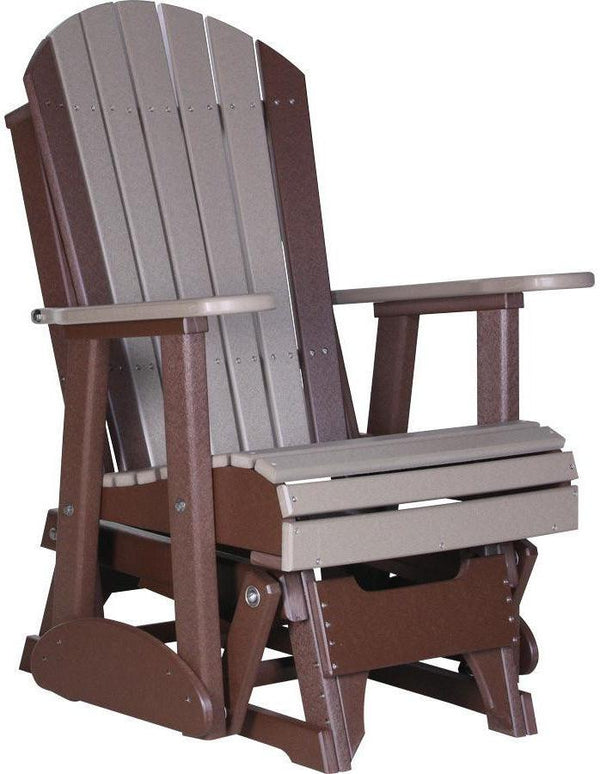 LuxCraft Adirondack Recycled Plastic 2'Glider Chair ...