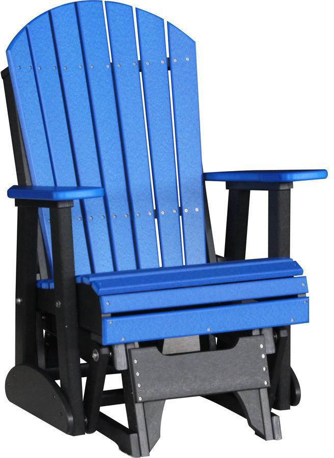 Outdoor Glider Chair   LuxCraft Recycled Plastic 2u0027 Adirondack Glider Chair