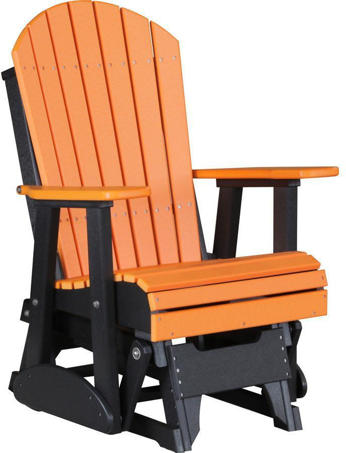 Luxcraft Adirondack Recycled Plastic 2 Glider Chair