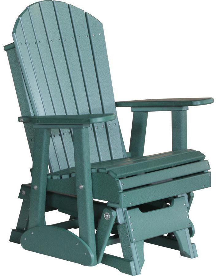 LuxCraft Recycled Plastic 2u0027 Adirondack Glider Chair   Rocking Furniture