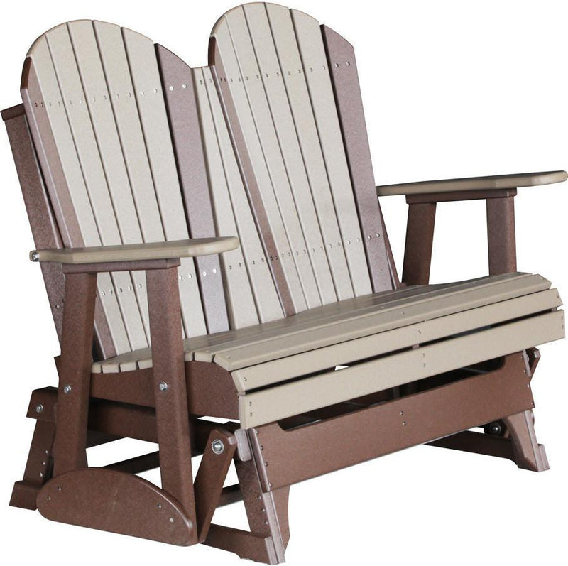 LuxCraft Adirondack 4' Recycled Plastic Glider Chair ...