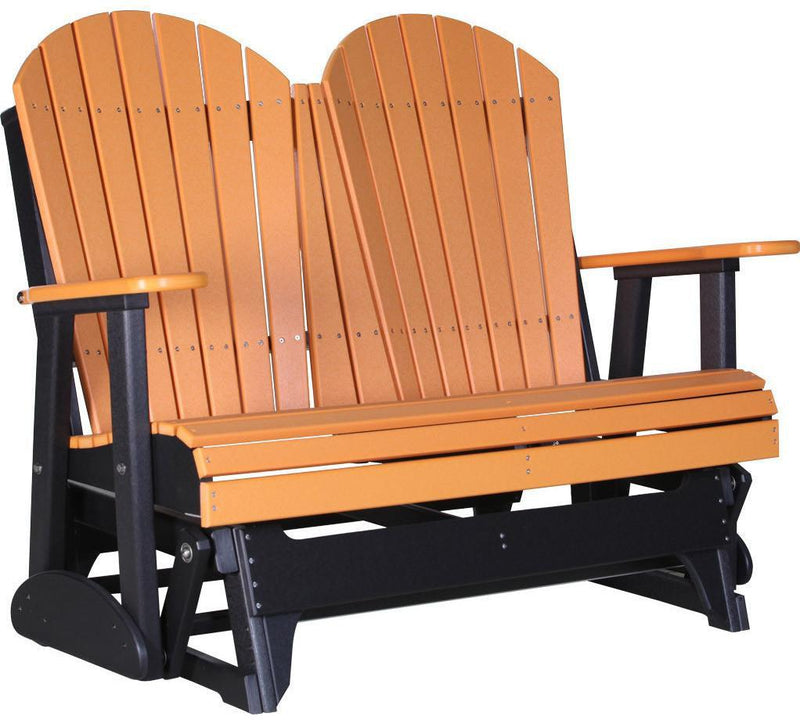 LuxCraft Recycled Plastic 4' Adirondack Glider Chair - Rocking Furniture - Recycled Plastic 4' Adirondack Glider Chair - Rocking Furniture