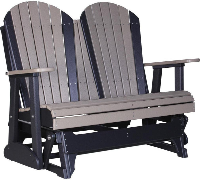 LuxCraft Recycled Plastic 4u0027 Adirondack Glider Chair   Rocking Furniture