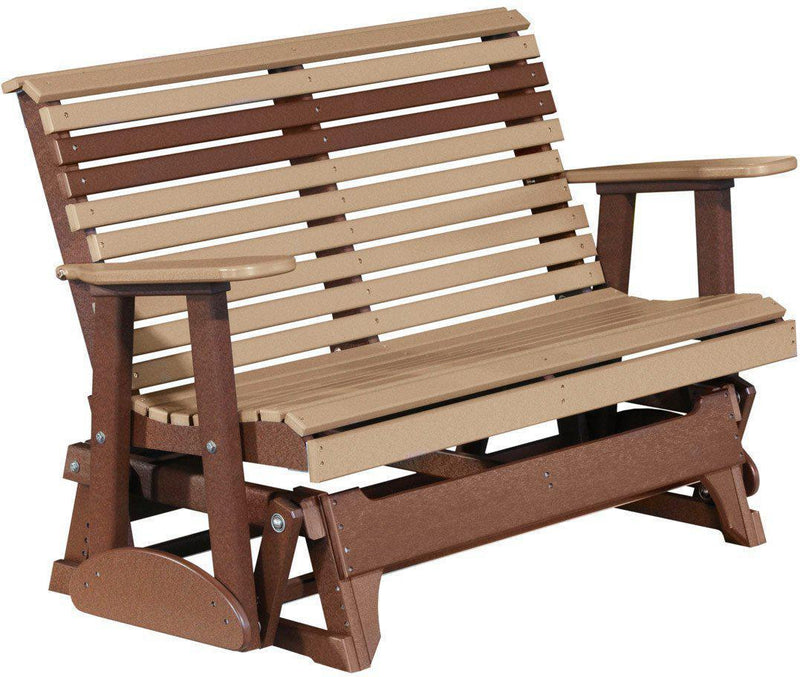 LuxCraft Rollback Recycled Plastic 4ft. Patio Glider   Rocking Furniture