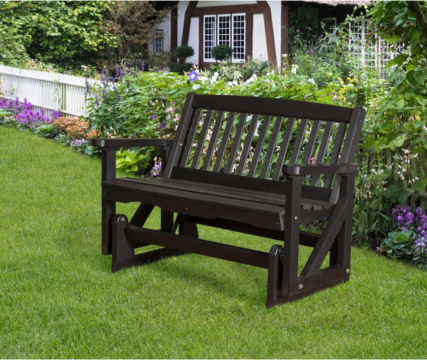 outdoor glider wildridge recycled plastic classic mission patio glider