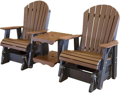 wildridge recycled plastic heritage rock a tee double seat adirondack glider lead time to ship 6 to 8 weeks