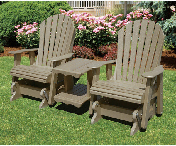 Wildridge Outdoor Double Seat Adirondack Rock A Tee Glider