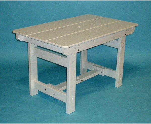 tailwind recycled plastic rectangle dining table