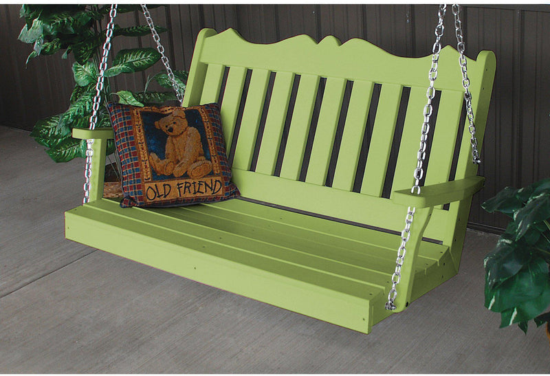 Porch Swing   Au0026L Furniture Company Royal English Recycled Plastic 4ft  Porch Swing Part 69