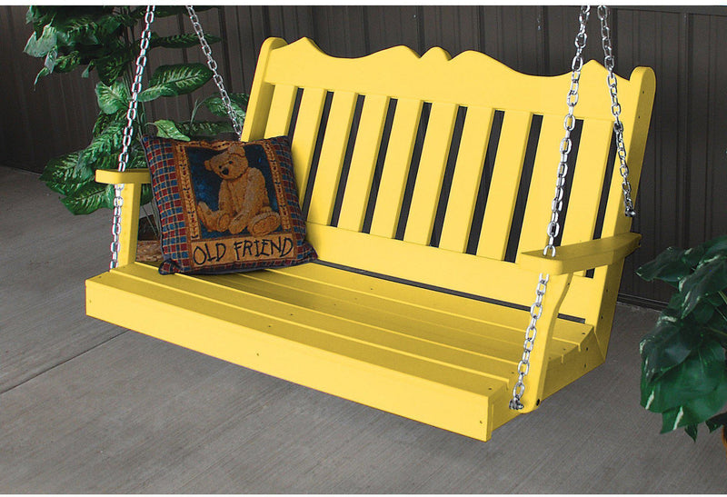 porch swing au0026l furniture company royal english recycled plastic 4ft porch swing