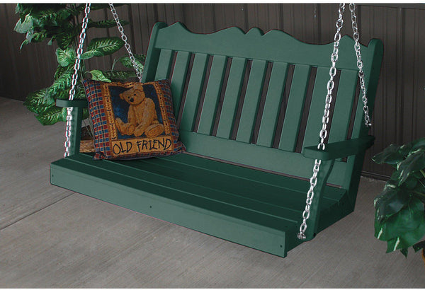 A Amp L Furniture Company Royal English 5ft Porch Swing