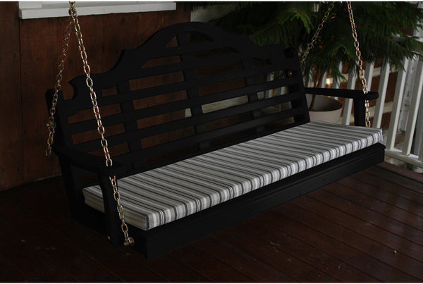 6 Ft Pine Porch Swing Outdoor Wooden Swing Seat