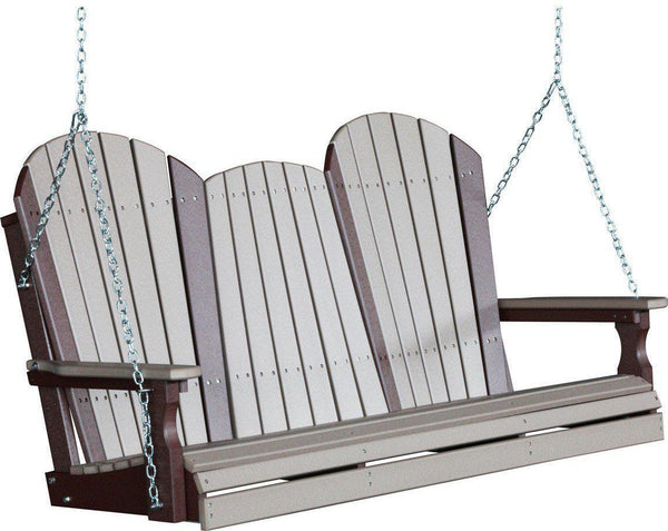 LuxCraft Adirondack 5ft. Recycled Plastic Porch Swing   Rocking Furniture