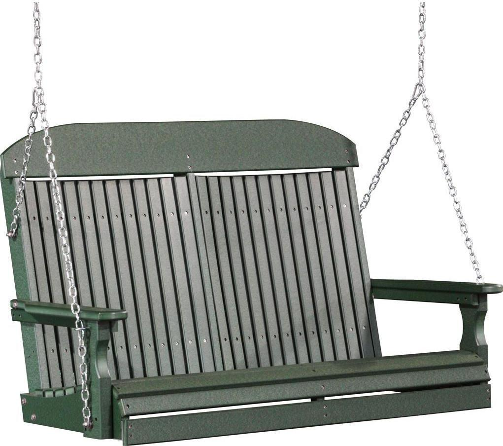 LuxCraft 4' Highback Recycled Plastic Porch Swing
