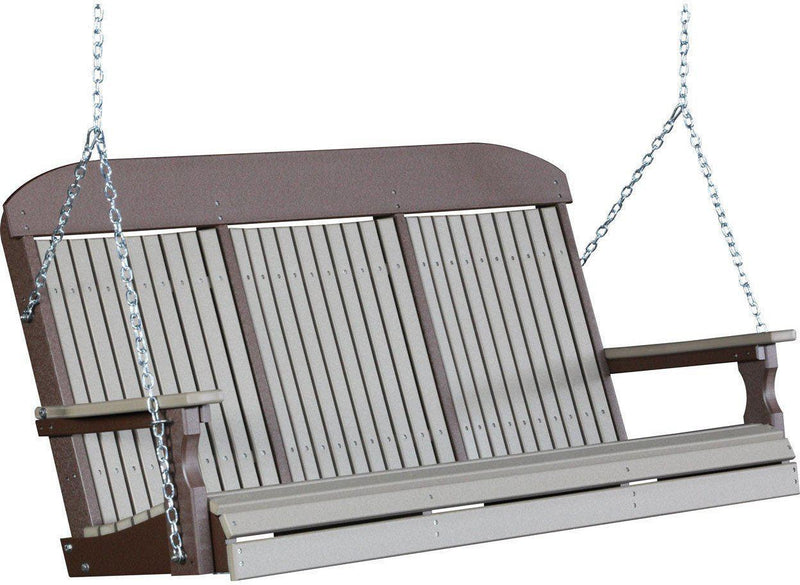 Luxcraft Classic 5 Highback Poly Porch Swing Rocking