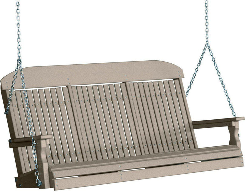 Luxcraft Classic 5 Porch Swing With Flip Down Center Console