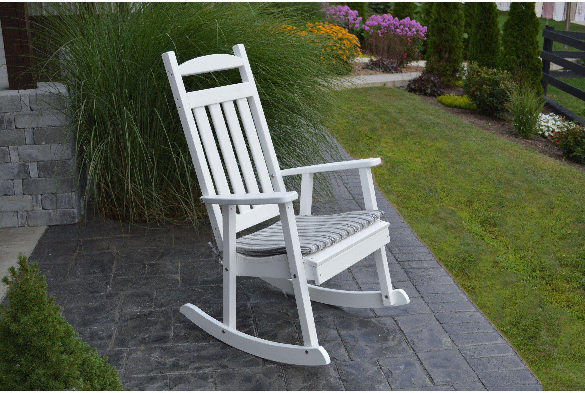 A&L Furniture Co Classic Recycled Plastic Rocking Chair Rocking