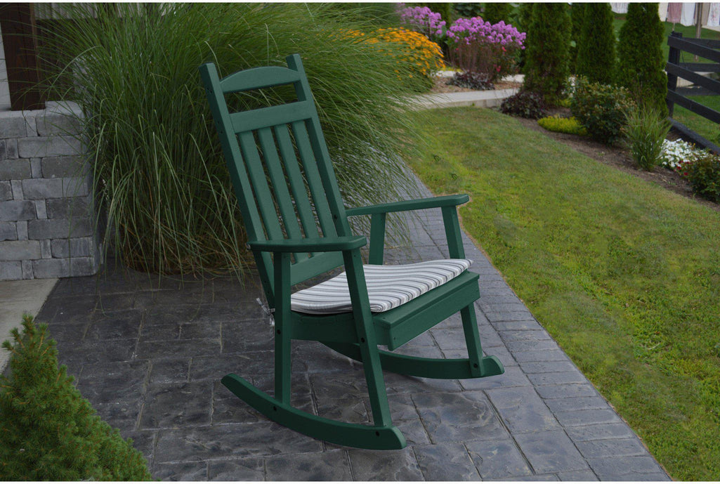 outdoor a l furniture co classic recycled plastic rocking chair