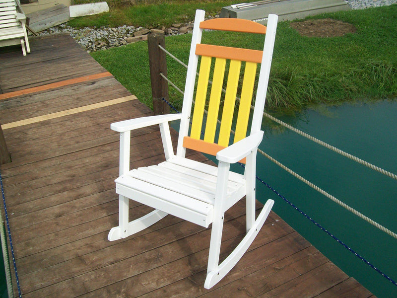outdoor a l furniture co classic recycled plastic rocking chair rocking furniture. Black Bedroom Furniture Sets. Home Design Ideas