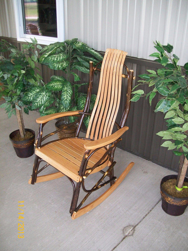A L Furniture Co Amish Bentwood 7 Slat Hickory Rocking Chair Ships Free In 5 7 Business Days