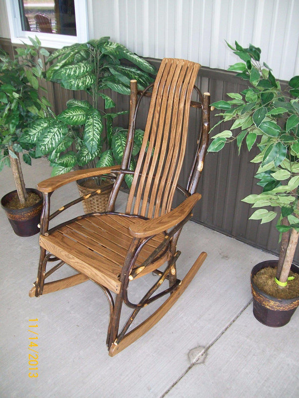A Amp L Furniture Co Amish Bentwood 7 Slat Hickory Rocking