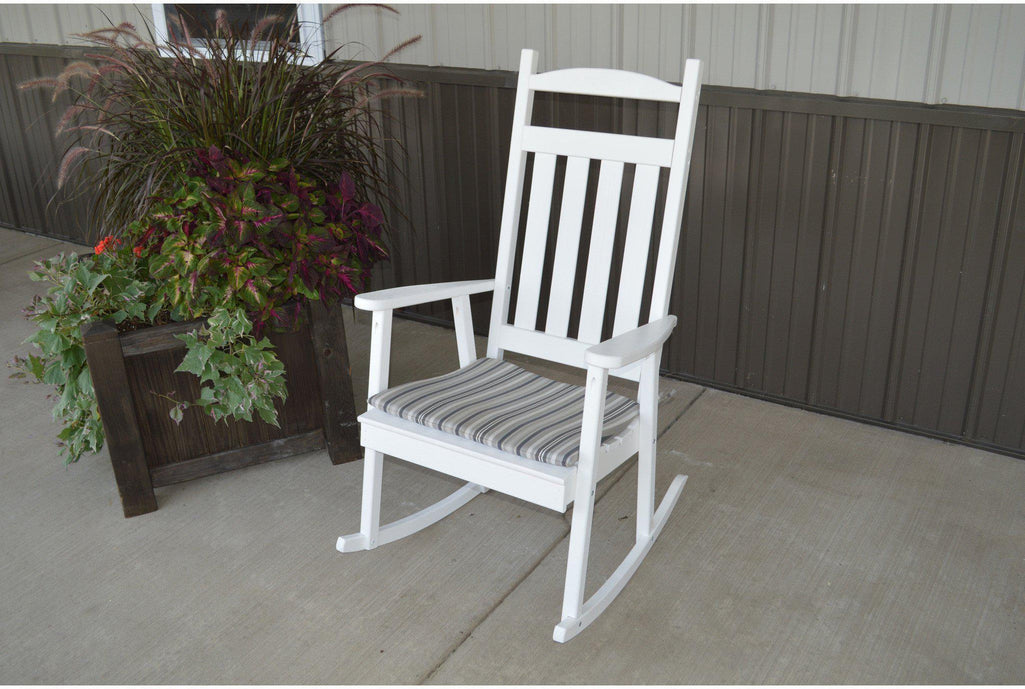 Outdoor Yellow Pine Classic Rocking Chair   Rocking Furniture