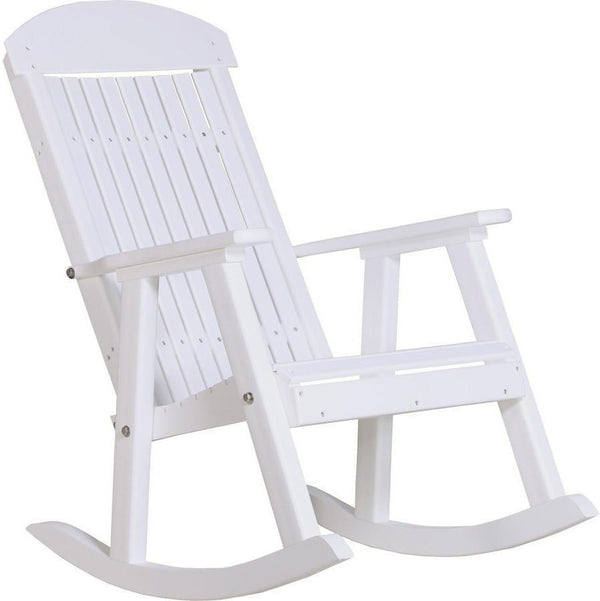 Luxcraft High Back Rocking Chair Outdoor Porch Rocker