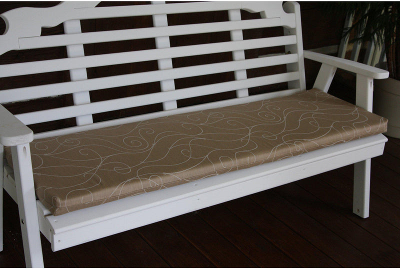 seat cushion au0026l furniture co 55 x 17 outdoor cushion for benches and porch