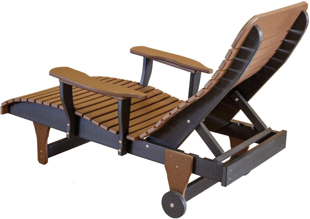 Wildridge Outdoor Recycled Plastic Chaise Lounge Chair   Rocking Furniture