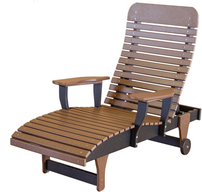 Plastic Heritage Chaise Lounge | Single Outdoor Chaise ...